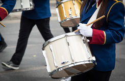 Students playing drums during a parade in Nicosia Cyprus Stock Image