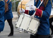 Students playing drums during a parade in Nicosia Cyprus Royalty Free Stock Image