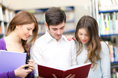Students portrait in a library Stock Image