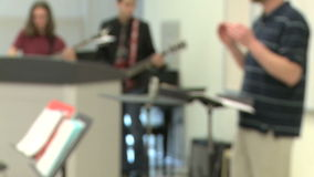 Students practicing in music class (1 of 7). A view or scene of School stock video footage