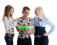 Students prepare for examination Stock Images