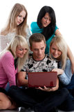 Students prepare for examination Stock Image