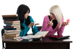 Students prepare for examination Royalty Free Stock Photos