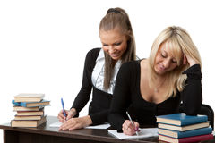 Students prepare for examination Royalty Free Stock Images