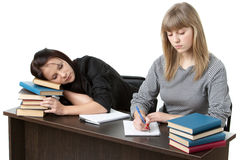 Students prepare for examination Royalty Free Stock Photography
