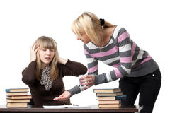 Students prepare for examination. Stock Images