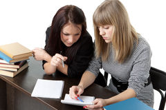 Students prepare for examination Stock Photos