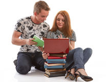 Students prepare for examination Stock Photo