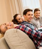 Students preparing for exams in home interior Royalty Free Stock Photo