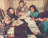 Students preparing for exams Stock Images