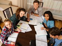 Students preparing for exams Stock Image