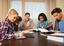 Students preparing for exams Stock Photo