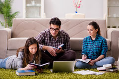 The students preparing for university exams. Students preparing for university exams Stock Images