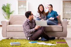 The students preparing for university exams Royalty Free Stock Image