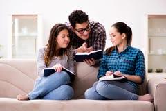 The students preparing for university exams Stock Photo