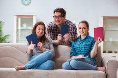 The students preparing for university exams Stock Images