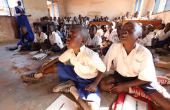 Students in primary school, Tanzania Royalty Free Stock Images