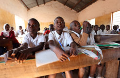 Students in primary school, Tanzania Stock Photos
