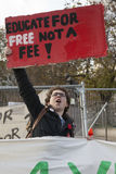 Students protest against fees and cuts and debt in central London. Royalty Free Stock Image
