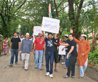 Students protesting against corruption in India Royalty Free Stock Images