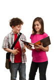 Students reading book stock images