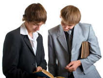 Students reading the books Stock Photography