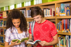 Students reading books in the library Royalty Free Stock Image