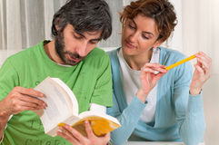 Students Reading Together Royalty Free Stock Image