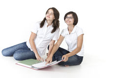 Students ready for exam Stock Photos