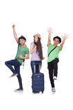 Students ready for travel Royalty Free Stock Images