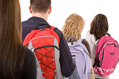 Students: Rear View of Students In Line Royalty Free Stock Image
