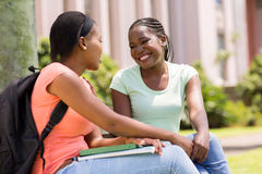 Students relaxing outdoors Royalty Free Stock Photography