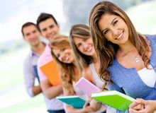Students in a row Stock Photos