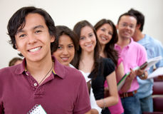Students in a row Royalty Free Stock Photography