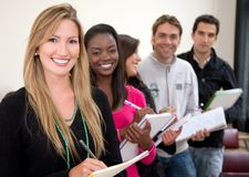 Students in a row Royalty Free Stock Images