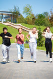 Students running Royalty Free Stock Photo
