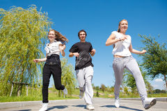 Students running Stock Image