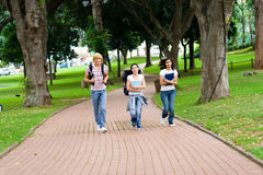 Free Students Running Royalty Free Stock Photo - 9526335