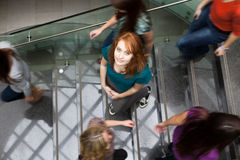 Free Students Rushing Up And Down A Busy Stairway Stock Photography - 51624162