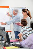 Students in sales training Stock Images