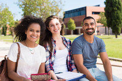 Students in School Campus Stock Images