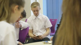 Students at school stock video footage
