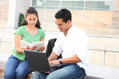 Students at School Studying for a test Royalty Free Stock Image