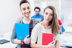 Students in seminar room of college or university Royalty Free Stock Image