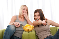 Students series - Two teenage girl Royalty Free Stock Photography