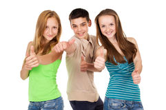 Students show sign ok Stock Photography