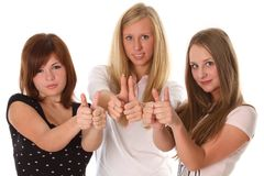 Students show thumbs up Stock Photography