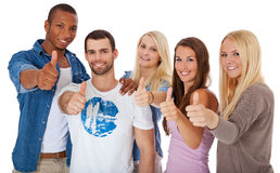 Students showing thumbs up Royalty Free Stock Photo