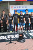 Students singing event for memorizing China Tiananmen Square protests of 1989 Royalty Free Stock Image