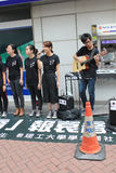 Students singing event for memorizing China Tiananmen Square protests of 1989 Stock Images
